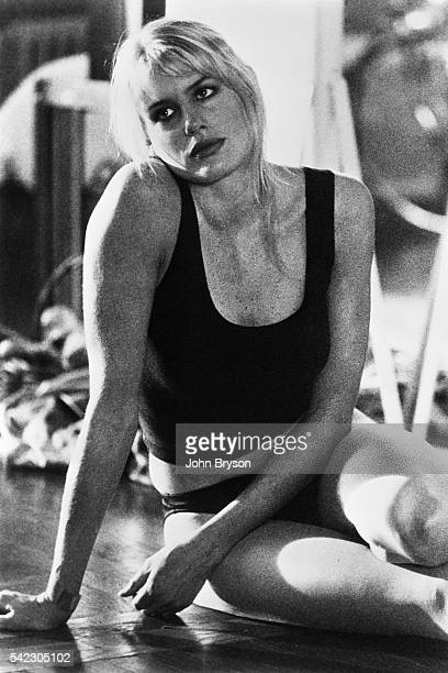 American actress Daryl Hannah on the set of The Pope of Greenwich Village directed by Stuart Rosenberg