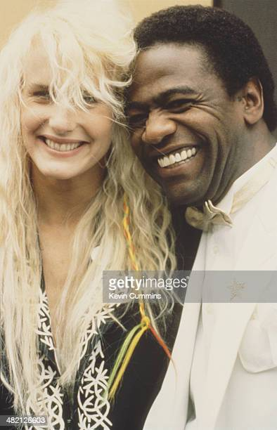 American actress Daryl Hannah with American soul singer Al Green circa 1985