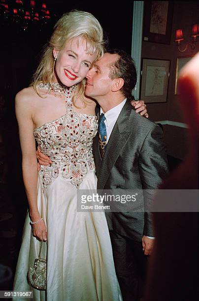 American actress Daryl Hannah with British dancer Wayne Sleep at a party after the London premiere of the film 'Steel Magnolias' UK 7th February 1990