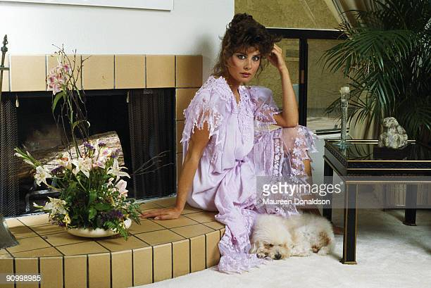 American actress Deborah Adair, 1984. At the time, she was playing the role of Tracy Kendall in the soap opera 'Dynasty'.