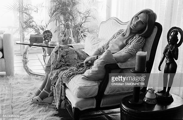 American Actress Deborah Raffin at Home