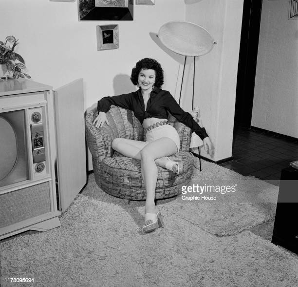 American actress Debra Paget, circa 1955.