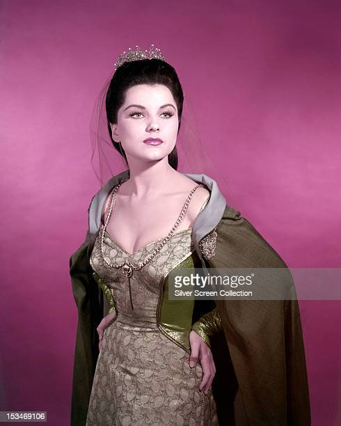 American actress Debra Paget in medieval costume, circa 1955.