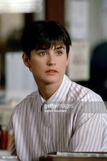 American actress Demi Moore on the set of Ghost directed by Jerry Zucker