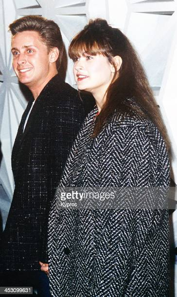 American actress Demi Moore with actor Emilio Estevez circa 1985
