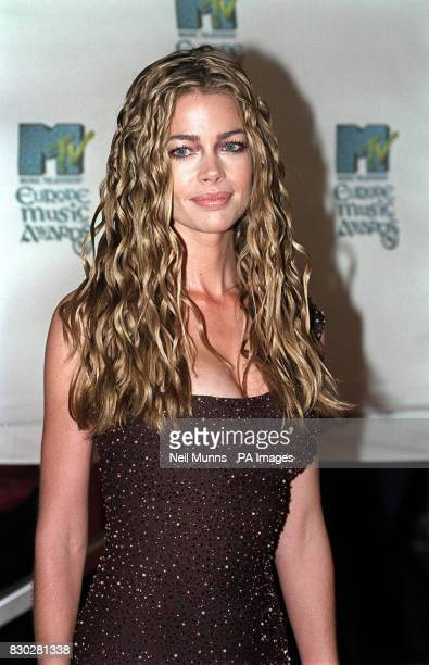 American actress Denise Richards who stars in the new James Bond movie 'The World Is Not Enough' attending the MTV Europe Music Awards at The Point...