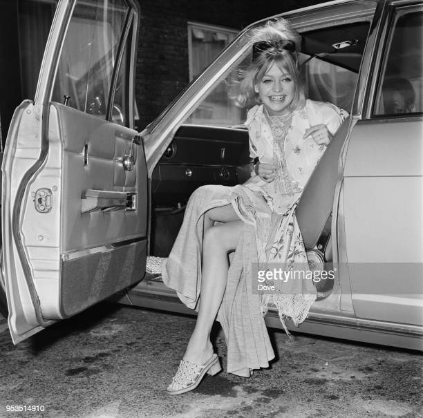 American actress director and producer Goldie Hawn arrives at Heathrow Airport London UK 31st May 1970