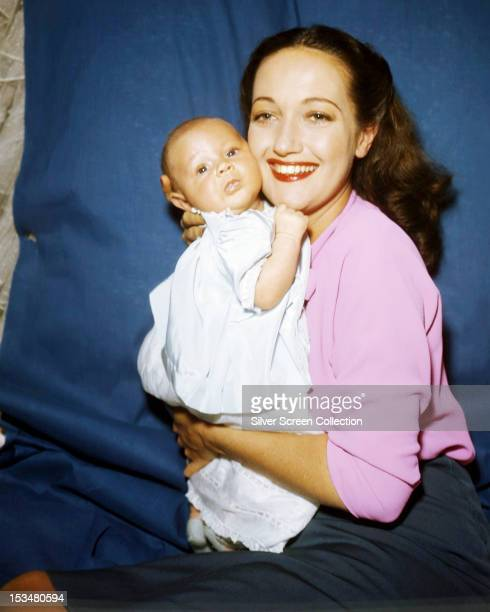 American actress Dorothy Lamour with one of her sons circa 1945