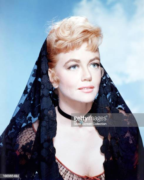 American actress Dorothy Malone as Lily Dollar in a promotional portrait for 'Warlock' directed by Edward Dmytryk 1959