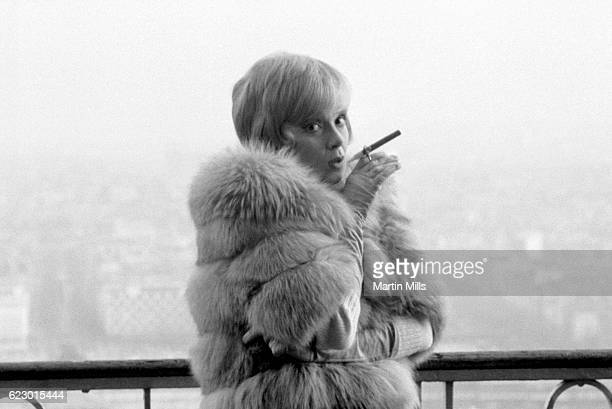 American actress Edie Adams poses for a portrait with a cigar circa 1960's