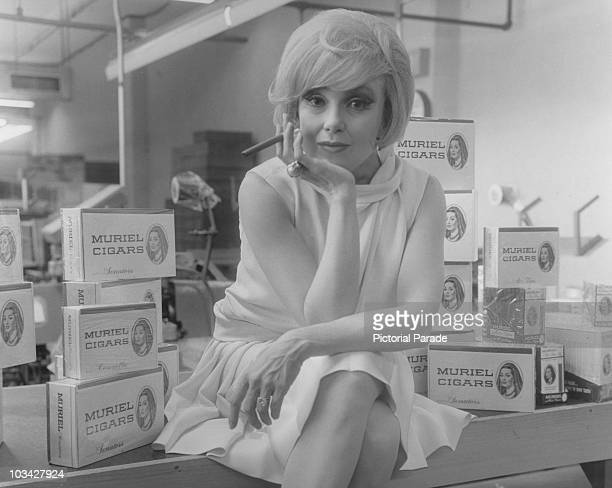 American actress Edie Adams promotes Muriel cigars in the 1960's