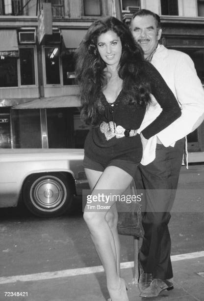American actress Edy Williams poses with her husband film director Russ Meyer New York New York mid 1971 The couple is likely in New York for the...