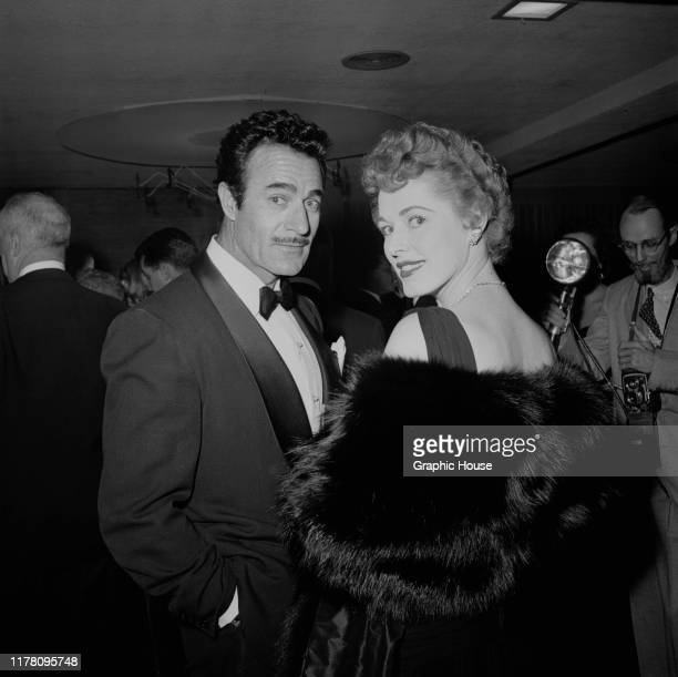 American actress Eleanor Parker with actor Gilbert Roland circa 1955