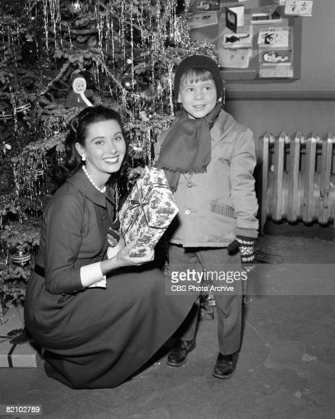 American actress Elinor Donahue and American actor Ronnie Howard appear in an episode of 'The Andy Griffith Show' Los Angeles California October 18...