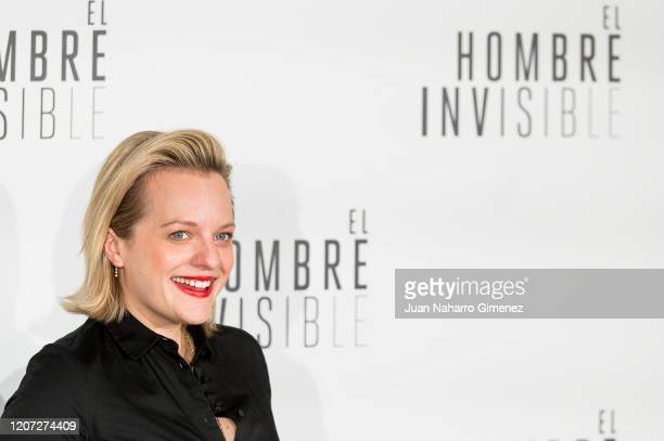 American actress Elisabeth Moss attends 'El Hombre Invisible' photocall at Villamagna Hotel on February 19, 2020 in Madrid, Spain.