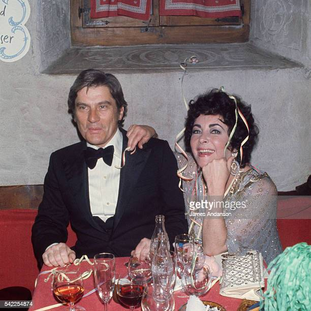 American actress Elizabeth Taylor and new husband John Warner celebrate the New Year in Gstaad