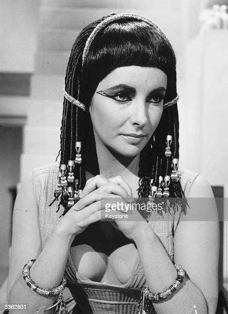 American actress Elizabeth Taylor in her role as Cleopatra