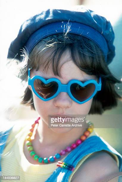 American actress Ellie Raab shooting a scene while on location filming the movie 'Little Sweetheart' in 1987 on St George Island in Florida