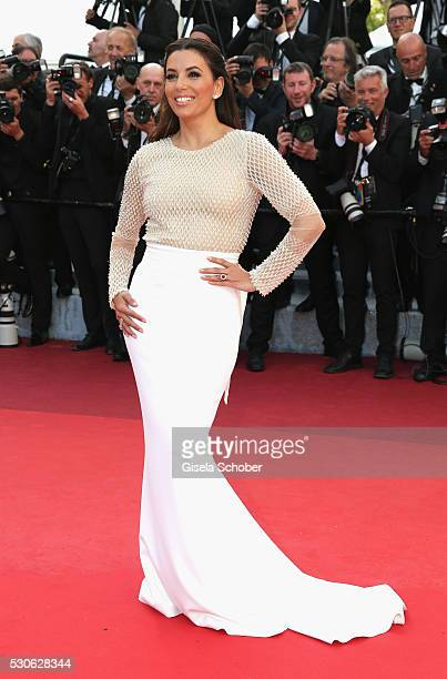 American actress Eva Longoria attends the Cafe Society premiere and the Opening Night Gala during the 69th annual Cannes Film Festival at the Palais...