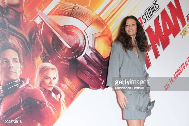 American actress Evangeline Lilly during the photocall of the film 'AntMan and the Wasp' presented in the De Russie Hotel Rome July 19th 2018