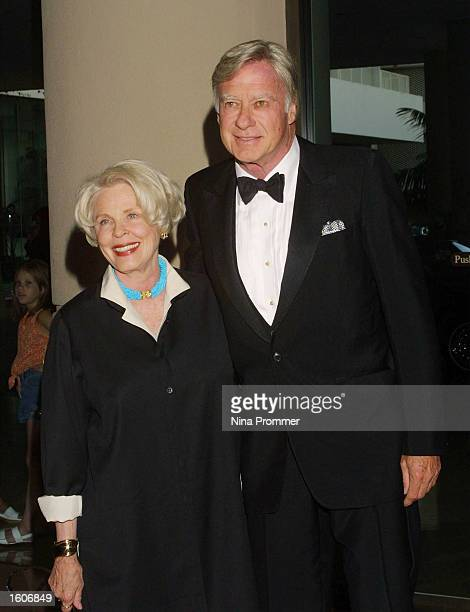 American actress Evans Evans and her husband film director John Frankenheimer pose for photographers as they attend the 5th Annual Hollywood Film...