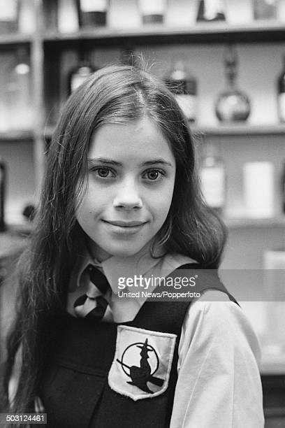 American actress Fairuza Balk posed on the set of the television film 'The Worst Witch' on 5th February 1986