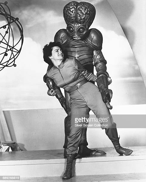 American actress Faith Domergue as Dr Ruth Adams in the science fiction film 'This Island Earth' 1955