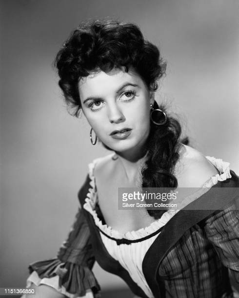 American actress Faith Domergue in a publicity shot for the Western 'Santa Fe Passage' 1955