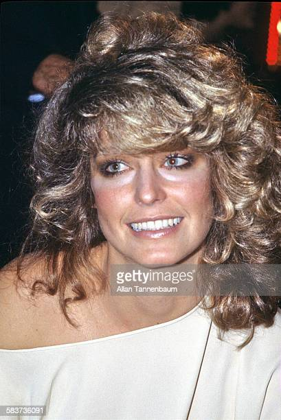 American actress Farrah FawcettMajors attends a party at Studio 54 to promote her brand of shampoo New York New York February 6 1978