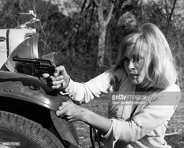 American actress Faye Dunaway as bank robber Bonnie Parker in the film 'Bonnie and Clyde' 1967