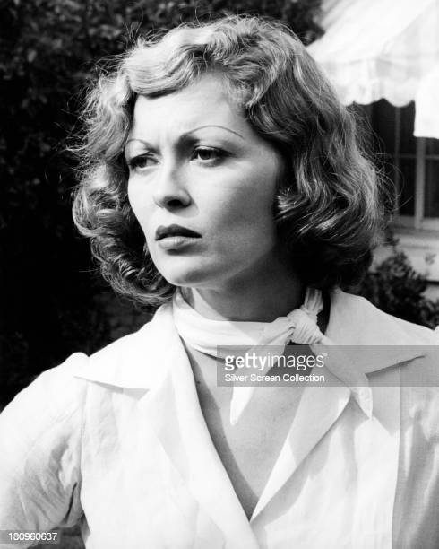 American actress Faye Dunaway as Evelyn Mulwray in 'Chinatown' directed by Roman Polanski 1974