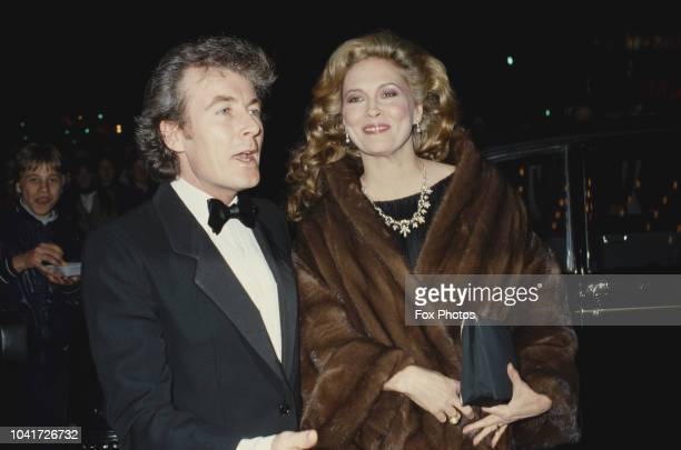 American actress Faye Dunaway attends the premiere of the film 'The Wicked Lady' in Leicester Square London accompanied by her husband photographer...