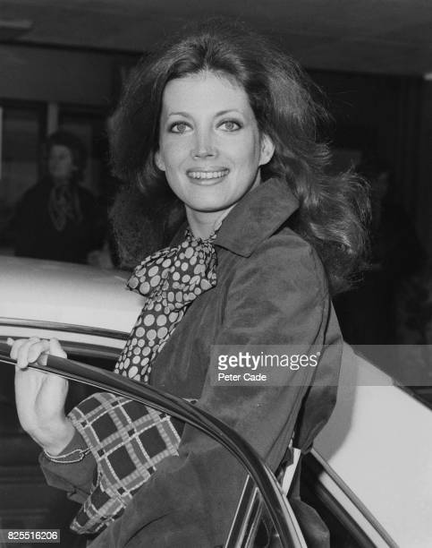 American actress Gayle Hunnicutt leaves Heathrow Airport UK for Israel to work on her new film 'The Sell Out' 26th March 1975
