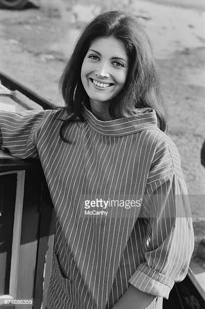 American actress Gayle Hunnicutt on location near Rugby where her husband David Hemmings is directing his first film 'Running Scared' UK 27th August...