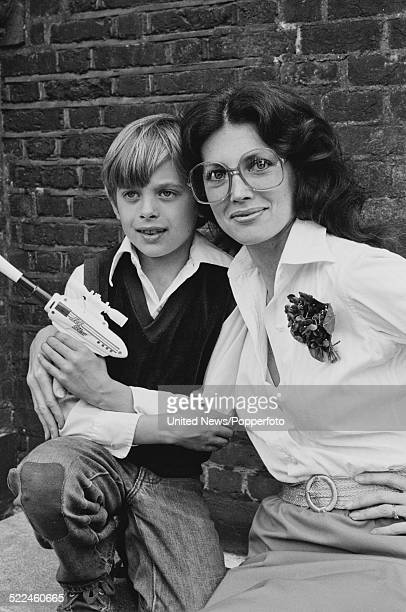 American actress Gayle Hunnicutt pictured with her son Nolan Hemmings in London on 31st July 1980