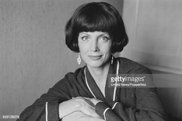 American actress Gayle Hunnicutt posed during filming of the television series 'Philip Marlowe Private Eye' in London on 5th August 1982