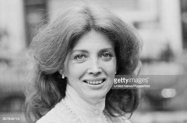 American actress Gayle Hunnicutt who plays Irene Adler in the British television series The Adventures of Sherlock Holmes in Golden Square London on...