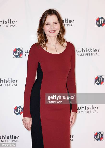American actress Geena Davis attends the Whistler Film Festival's Women On Top Keynote Luncheon Series at The Sutton Place Hotel on June 15 2018 in...