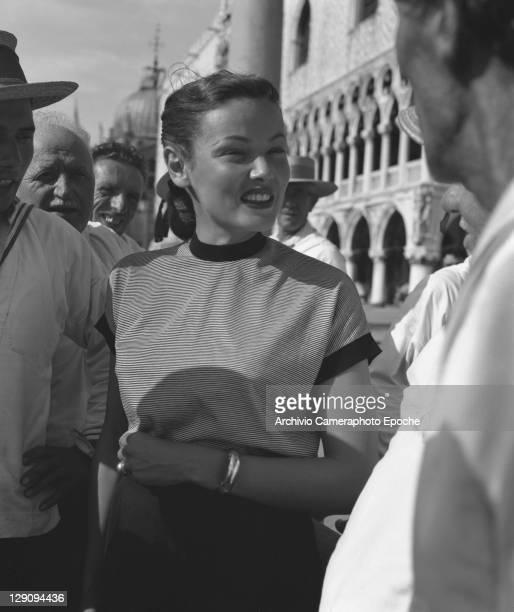 American actress Gene Tierney in Venice 1951
