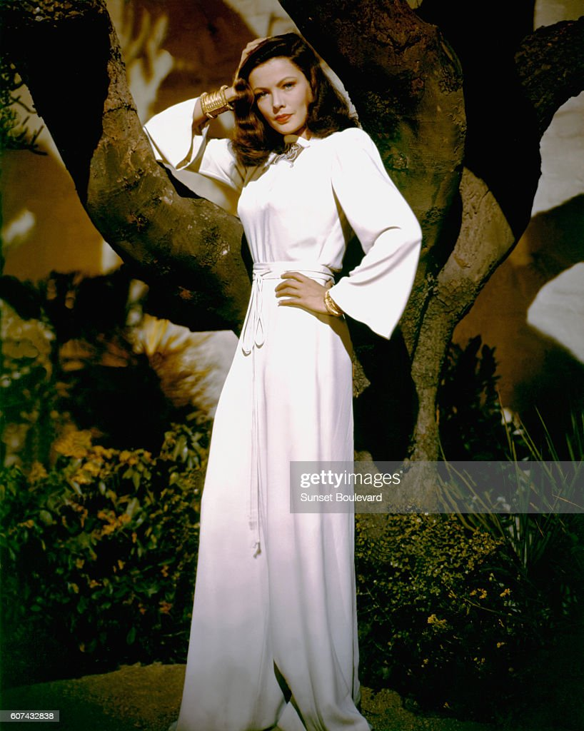 American actress Gene Tierney on the set of Leave Her to Heaven, directed by John M. Stahl.
