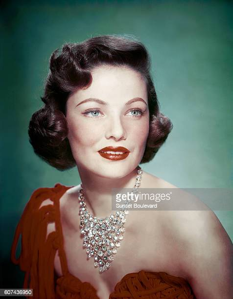 American actress Gene Tierney on the set of Where the Sidewalk Ends based on the novel by William L Stuart and directed by Otto Preminger