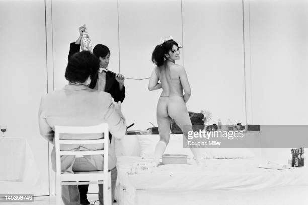 American actress Geri Miller as Josie in a scene from American artist Andy Warhol's play 'Pork' 29th July 1971 The scene is being performed at a...