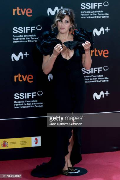 American actress Gina Gershon attends 'Rifkin's Festival' premiere during 68th San Sebastian Film Festival on September 18, 2020 in San Sebastian,...