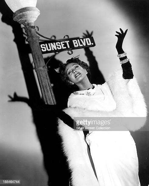 American actress Gloria Swanson in a promotional portrait for 'Sunset Boulevard' directed by Billy Wilder 1950