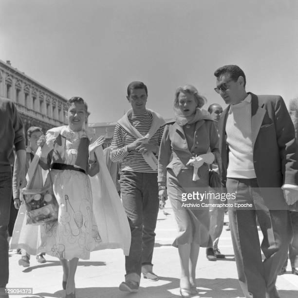 American actress Gloria Swanson in Venice 1944