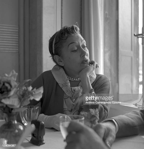 American actress Gloria Swanson in Venice 1955