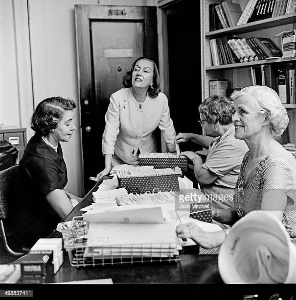 American actress Gloria Swanson works with a cancer research charity New York New York 1963