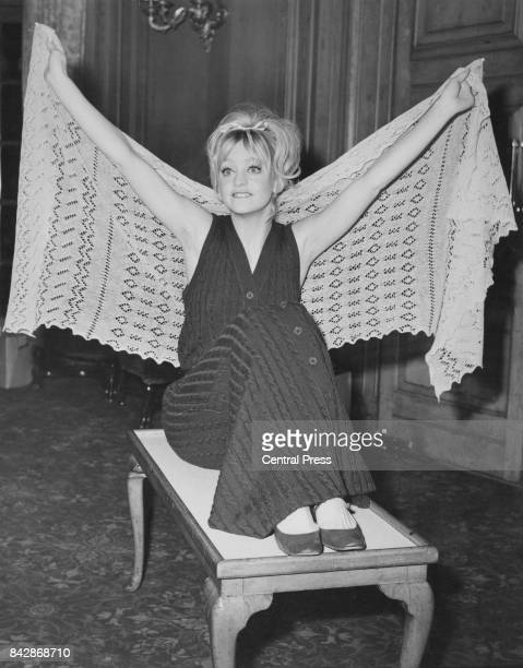 American actress Goldie Hawn during a press conference for her upcoming film 'There's a Girl in My Soup' London 2nd February 1970