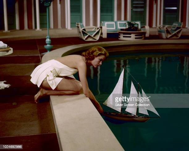 American actress Grace Kelly as Tracy Lord in the musical film 'High Society', 1956.