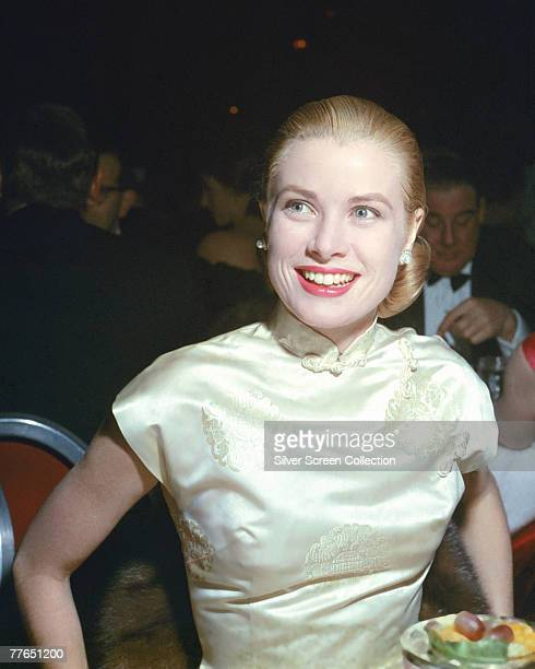 American actress Grace Kelly attends the Golden Globe Awards ceremony at the Cocoanut Grove Restaurant in Los Angeles 23rd February 1956 She won the...